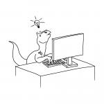 kuvituskuva: dino koodaa